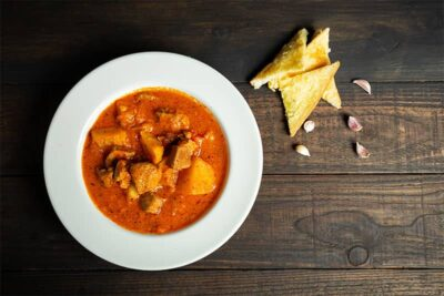 Game stew with potatoes and paprika