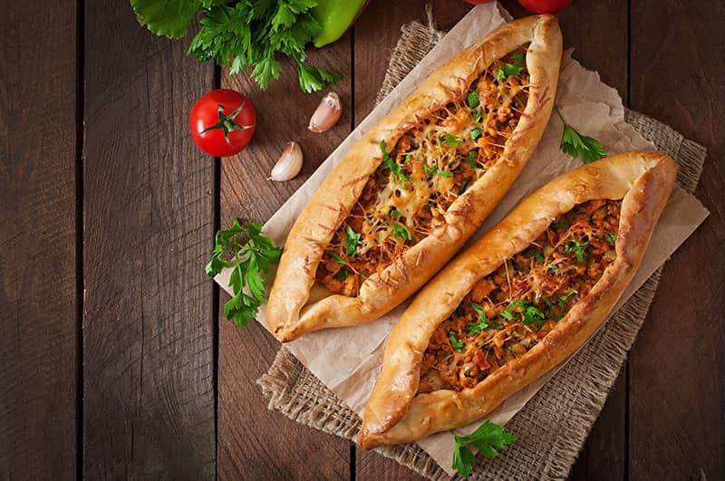Vegan Turkish Flatbread Pizza