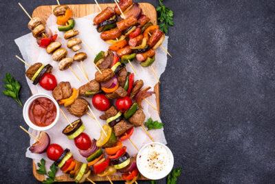 Turkish kebabs with tomato chili sauce