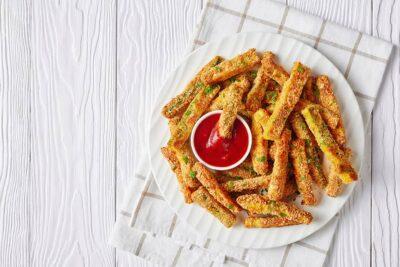 Greek Dukkah Zucchini Fries