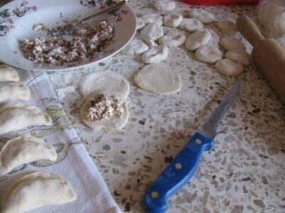 Buckwheat leavened dumplings
