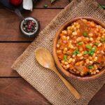 Veal with large Lima Beans Mish Qingjji me Barbunja
