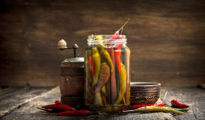 Roasted And Marinated Chili Peppers