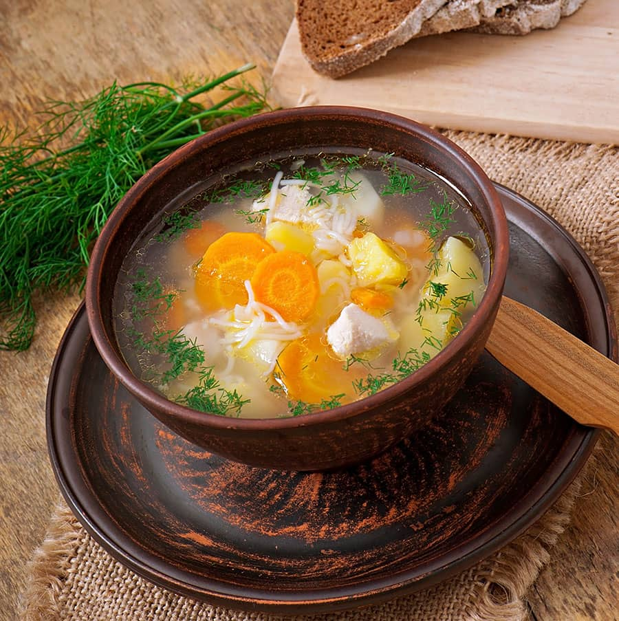 Bulgarian chicken soup Pileshka Supa