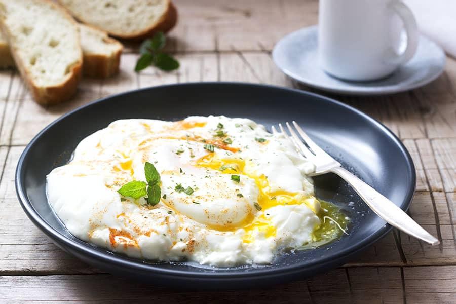 Poached Eggs with Yogurt