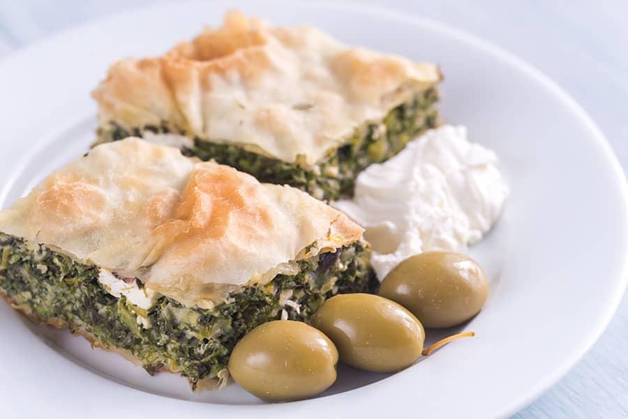 Byrek Me Spinaq spinach pie