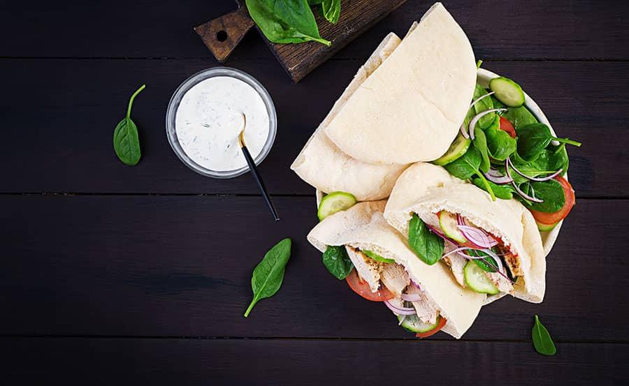 Greek Pita Sandwiches