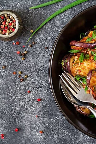 Eggplant Casserole with Tomatoes
