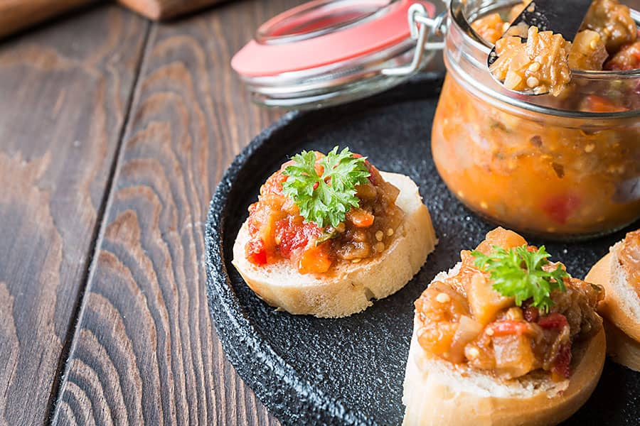 Bulgarian Eggplant Pepper Spread