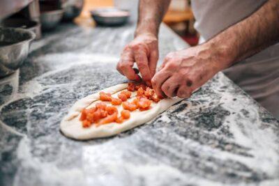 Macedonian Pizza Pastrmajlija