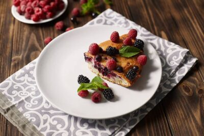 Pastry filled with cheese and fruit Montenegrin Gibanica