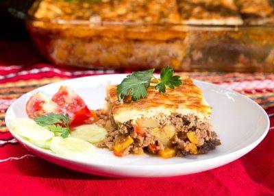 Traditional Bulgarian Moussaka