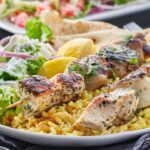 Spice-Crusted Greek Chicken Skewers
