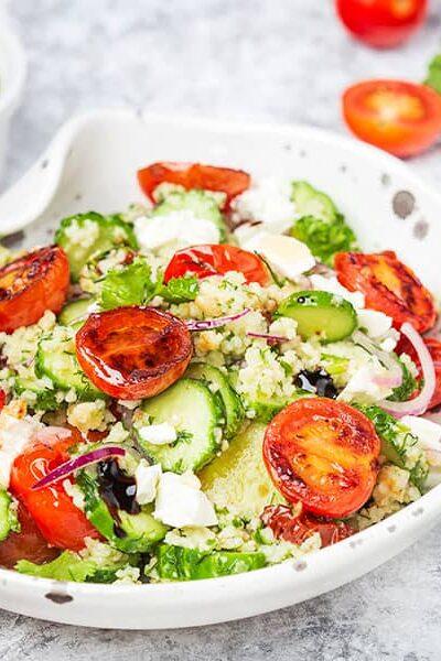 Couscous Pasta Salad greek