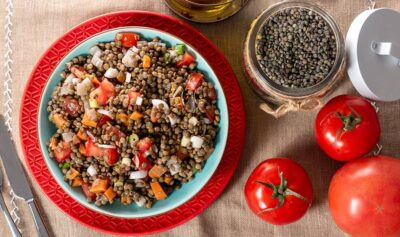 Turkish Green Lentil Salad Recipe