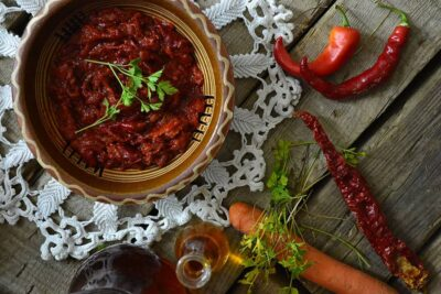 Lyutenitsa Bulgarian vegetable spread