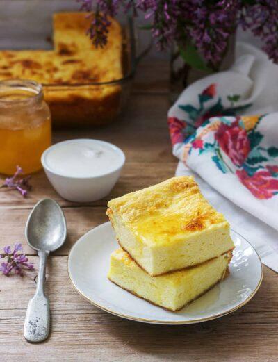 traditional Romanian Mămăliga Baked