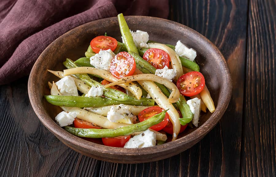 Green Bean, Tomato and Feta Salad