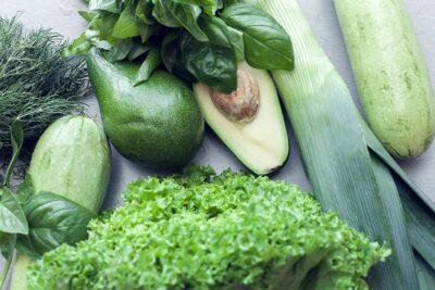 White Zucchini, Avocado and Lettuce Salad