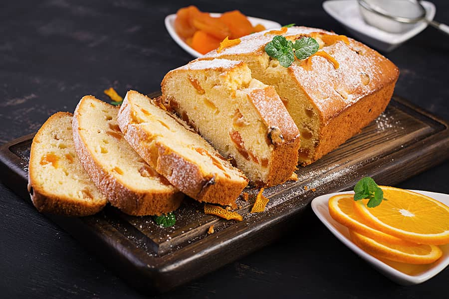 Orange Cake with Honeyed Yogurt